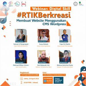 Ferianto Sebagai Penyelenggara Webinar Nasional Digitall Skill Membangun Website Menggunakan WordPress