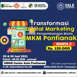 Ferianto Sebagai Narasumber Kegiatan Transformasi Digital Marketing untuk Pengembangan Bisnis UMKM Pontianak