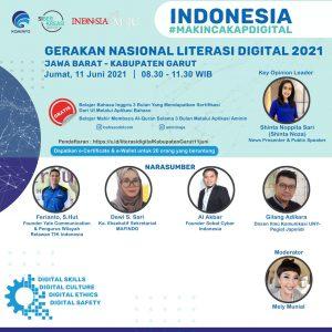 Ferianto sebagai narasumber Webinar Nasional Pentingnya Memiliki Digital Skill di Masa Pandemi Covid 19